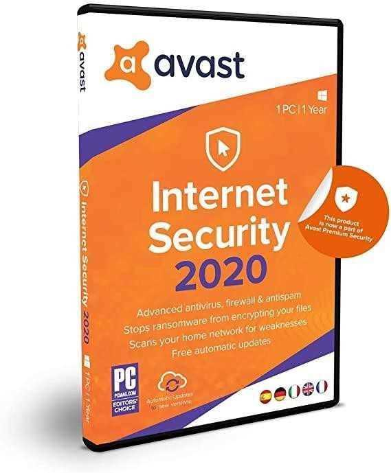 Mejor Avast Internet Security 2019